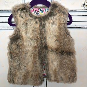Faux Fur vest size 3T